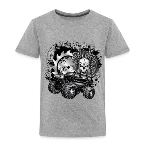 Metallic Monster Truck - Toddler Premium T-Shirt