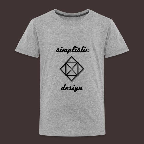 Simplistic Design Logo With Text - Toddler Premium T-Shirt