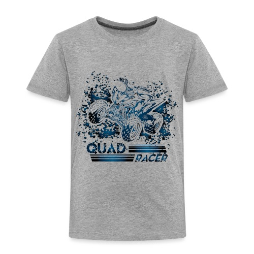 Blue Quad Racer Grunge - Toddler Premium T-Shirt