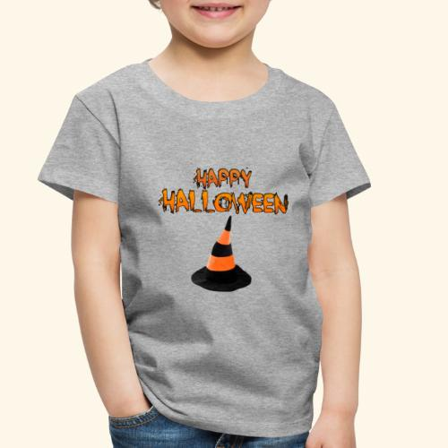 HAPPY HALLOWEEN WITCH HAT TEE - Toddler Premium T-Shirt