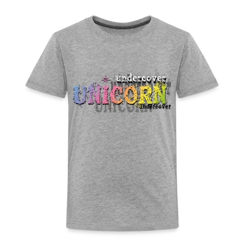 Undercover Unicorn - Toddler Premium T-Shirt