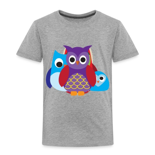 Cute Owls Eyes - Toddler Premium T-Shirt