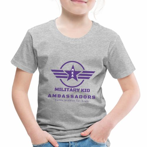 Military Kid Ambassador Purple Logo - Toddler Premium T-Shirt