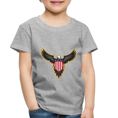 Patriotic American Bald Eagle - Toddler Premium T-Shirt