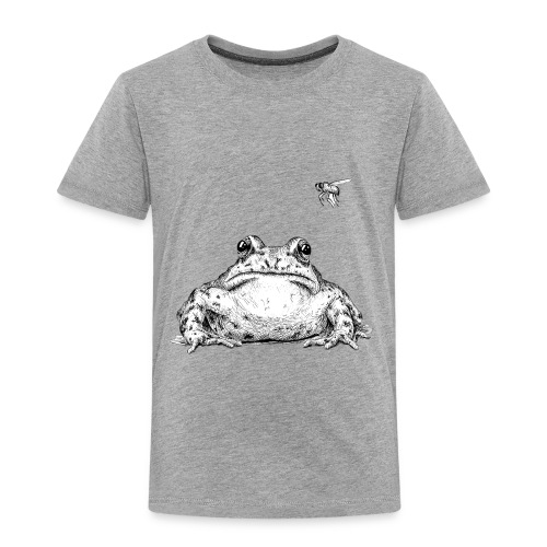 Frog with Fly by Imoya Design - Toddler Premium T-Shirt