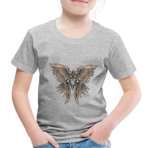 Skulls and Wings Illustration - Toddler Premium T-Shirt