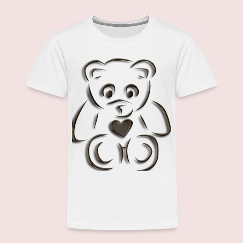 realistic teddy - Toddler Premium T-Shirt