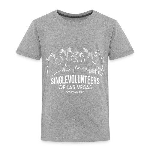White logo SVLV - Toddler Premium T-Shirt