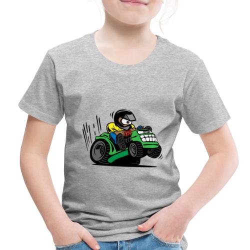 Racing Lawn Mower Cartoon - Toddler Premium T-Shirt