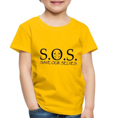 SOS Black on Black - Toddler Premium T-Shirt