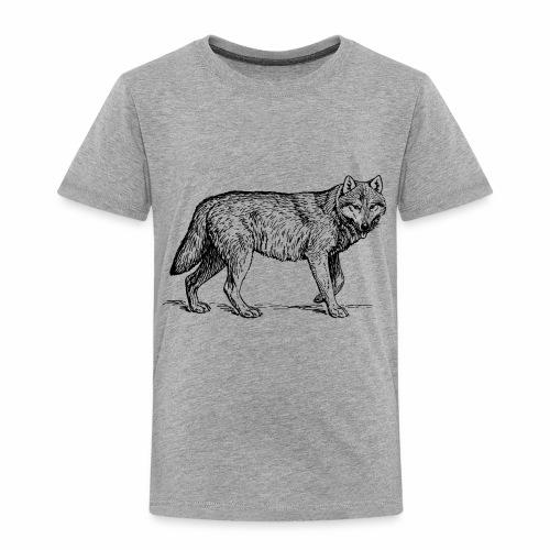 wolf T-shirt/wolf accessories/wolf apparel - Toddler Premium T-Shirt