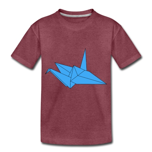 Origami Paper Crane Design - Blue - Toddler Premium T-Shirt