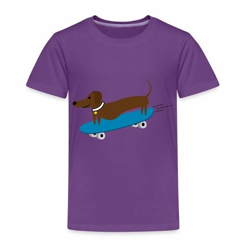 Dachshund Skateboarding - Toddler Premium T-Shirt
