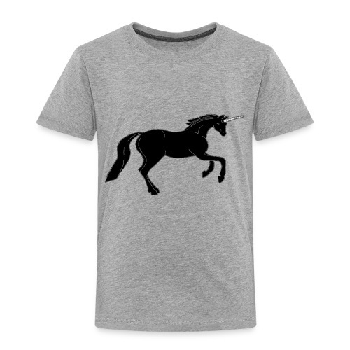 unicorn black - Toddler Premium T-Shirt