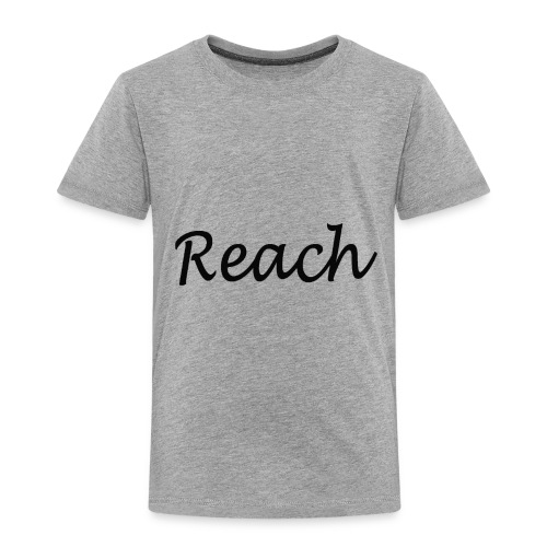 Classic Reach logo black - Toddler Premium T-Shirt