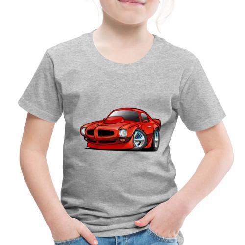 Classic Seventies American Muscle Car Cartoon - Toddler Premium T-Shirt
