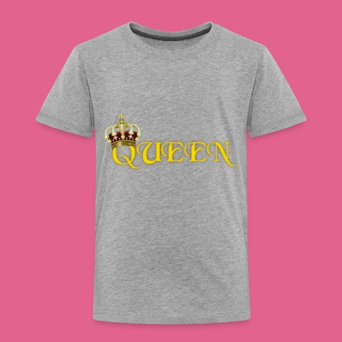 GOLD QUEEN CROWN GEMS AND DIAMONDS - Toddler Premium T-Shirt