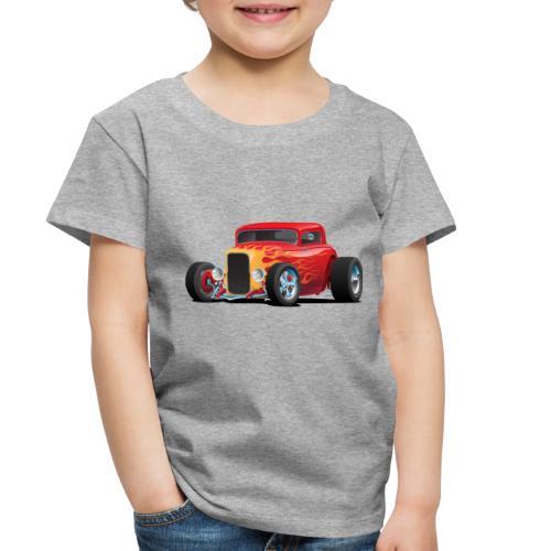 Classic Bold Red Custom Street Rod - Toddler Premium T-Shirt