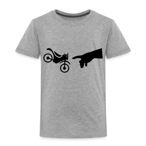 The hand of god brakes a motorcycle as an allegory - Toddler Premium T-Shirt