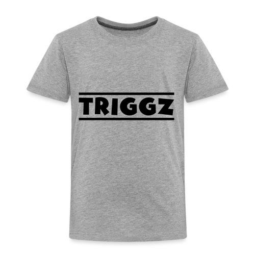 Triggz s Shirt Logo Black with Lines - Toddler Premium T-Shirt