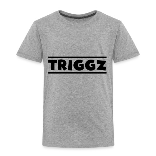 Triggz s Shirt Logo Black with Lines - Toddler Premium T-Shirt