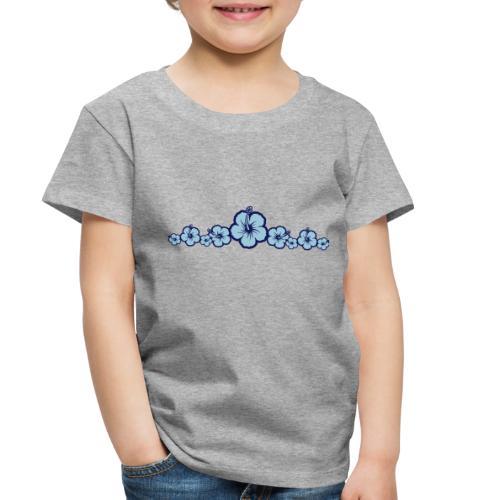 Hawaiian Hibiscus Flowers - Surfing Style - Toddler Premium T-Shirt