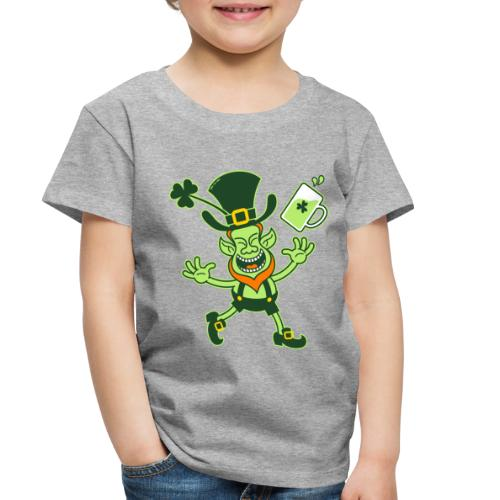 Euphoric Leprechaun Celebrating St Patrick's Day - Toddler Premium T-Shirt
