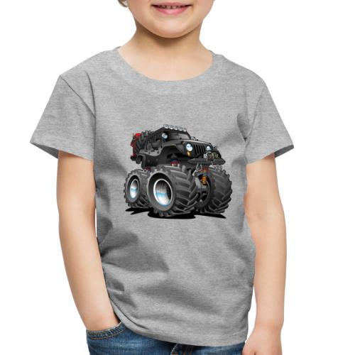 Off road 4x4 black jeeper cartoon - Toddler Premium T-Shirt