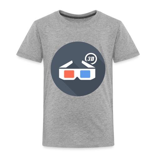 3D glasses - Badge - Toddler Premium T-Shirt