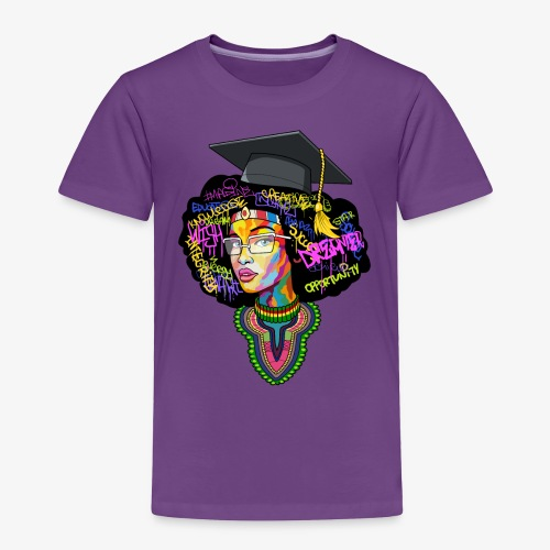Black Educated Queen School - Toddler Premium T-Shirt