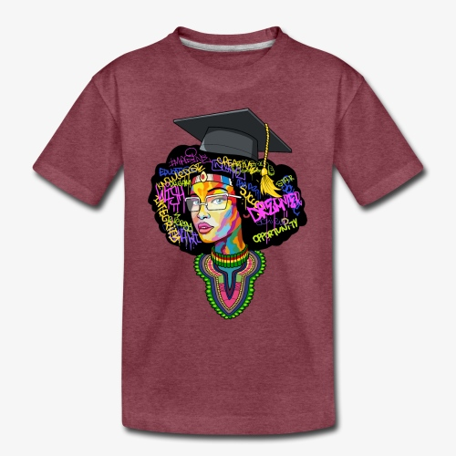 Black Educated Queen School - Toddler Premium T-Shirt