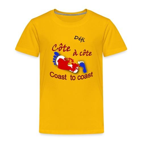 Défi côte à côte - Toddler Premium T-Shirt