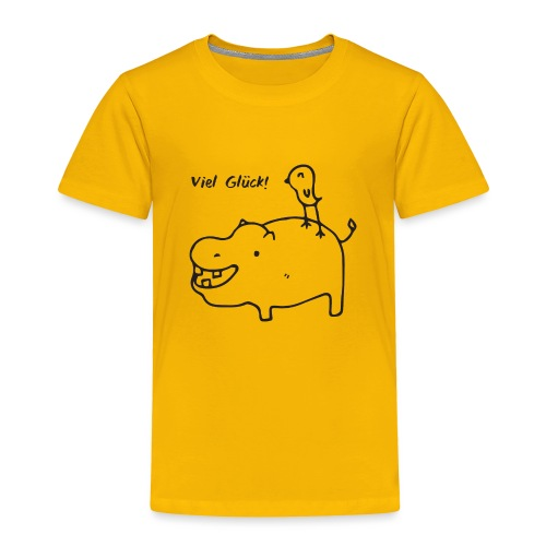 Hippo Bird - Toddler Premium T-Shirt