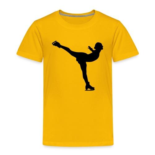 Ice Skating Woman Silhouette - Toddler Premium T-Shirt