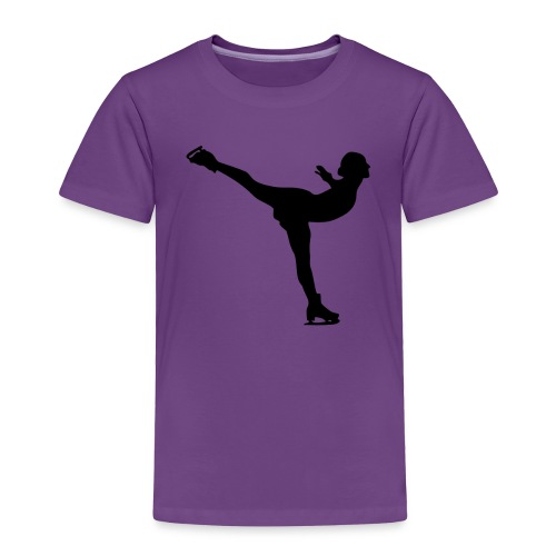 Ice Skating Woman Silhouette - Toddler Premium T-Shirt