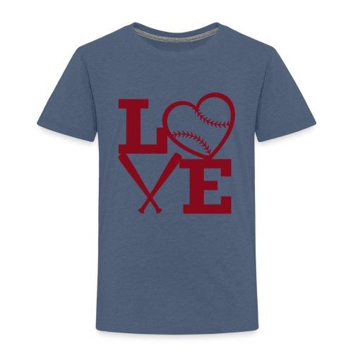 Love baseball - Toddler Premium T-Shirt