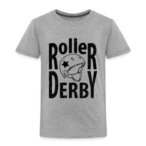 Roller derby helmet typography - Toddler Premium T-Shirt