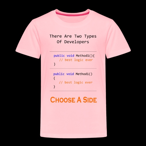 Code Styling Preference Shirt - Toddler Premium T-Shirt