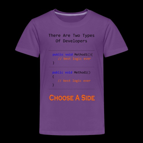Code Styling Preference Shirt - Toddler Premium T-Shirt