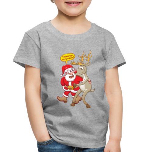 Santa Claus deeply thanks his red-nosed reindeer - Toddler Premium T-Shirt