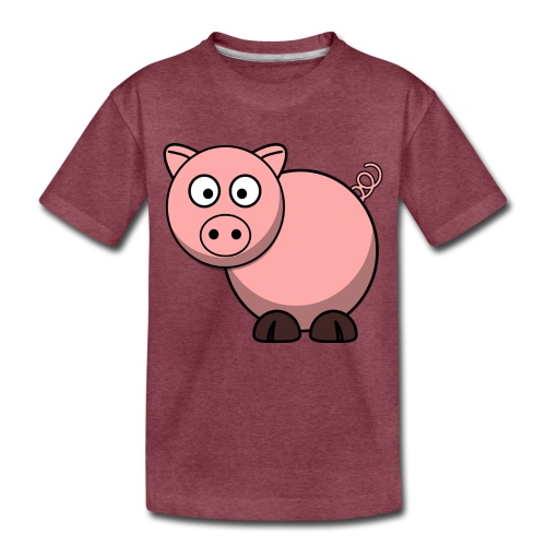 Funny Pig T-Shirt - Toddler Premium T-Shirt