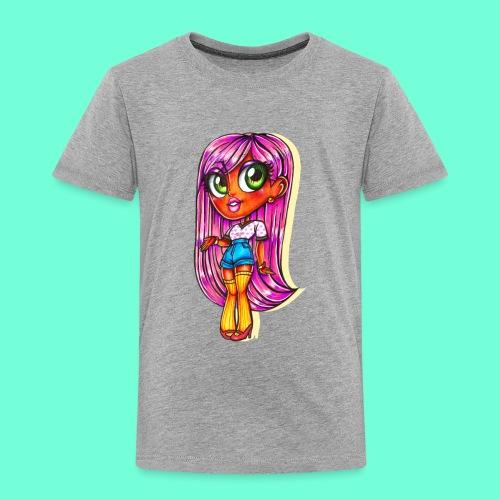 Pink Hair Girl ~ - Toddler Premium T-Shirt