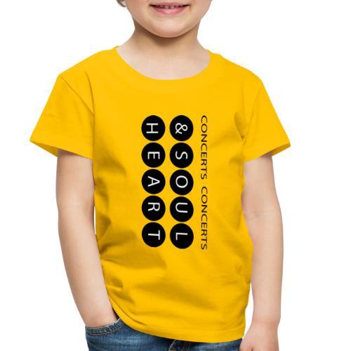 Heart & Soul concerts text design 2021 flip - Toddler Premium T-Shirt
