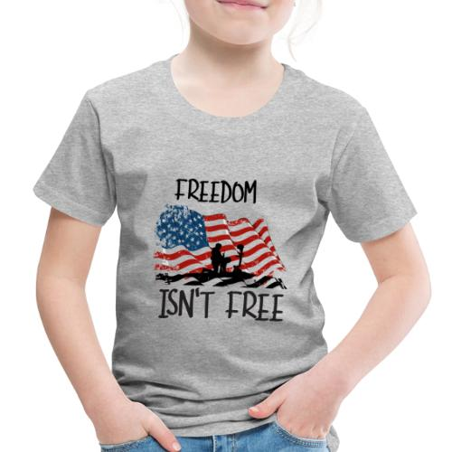 Freedom isn't free flag with fallen soldier design - Toddler Premium T-Shirt
