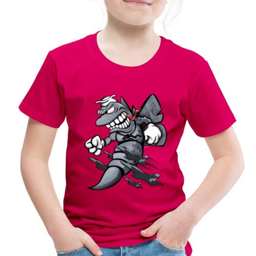 F/A-18 Hornet Fighter Attack Military Jet Cartoon - Toddler Premium T-Shirt