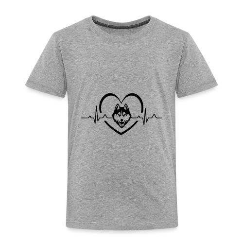 Love every beat for Husky T-Shirt - Toddler Premium T-Shirt