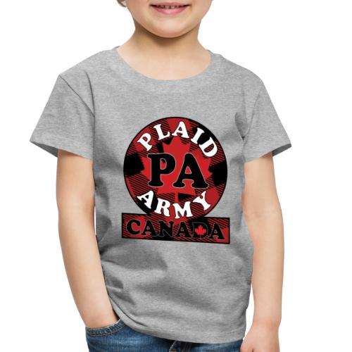 Plaid Army Canada - Toddler Premium T-Shirt