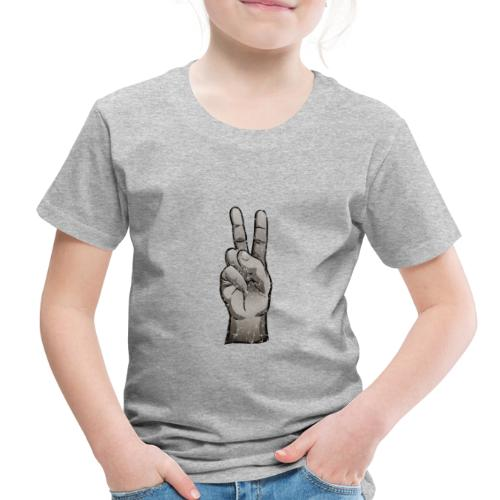 Distressed Peace Sign - Toddler Premium T-Shirt