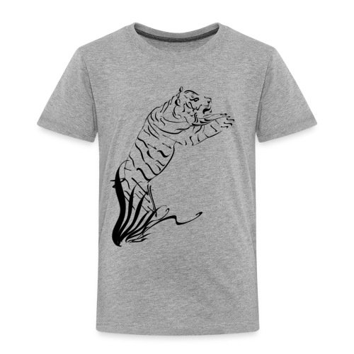Leaping Tiger 2 black - Toddler Premium T-Shirt