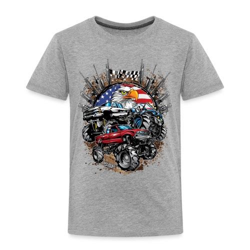 Mega Mud Trucks USA - Toddler Premium T-Shirt